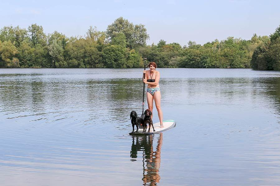 Paddleboarding Holiday By Lake
