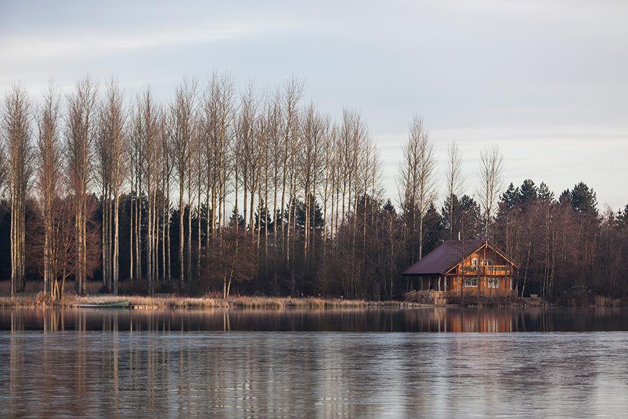 Winter Log Cabin UK